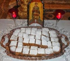 Feast Day of Agios Fanourios, with recipe for Fanouropita - Greek City Times Greek Sweets, Greek Desserts, Greek Recipes, Sweets Recipes, Cake Recipes, Food Network Recipes, Food Processor Recipes, Greek Cake, The Kitchen Food Network