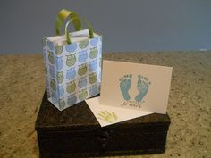 Owl Gift Bag with Baby Shower Thank You Cards & by NJoyMyCrafts