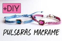 DIY Pulseras de macramé paso a paso | Macramé bracelet DIY | Aprender manualidades es facilisimo.com