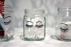Add some small lashes to your glasses so they can be as pretty as you are. - Diy project - Add some small lashes to your glasses so they can be as pretty as you are. Diy Beauty Organizer, Makeup Containers, Lash Room, Decoration Bedroom, Ideias Diy, Diy Décoration, Diy Organization, Handmade Home, Diy Gifts