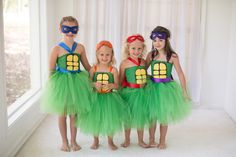 Ninja Turtle Inspired Tutu Costume Dress