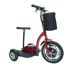 Drive Medical Zoome Three Wheel Recreational Power Scooter Red *** For more information, visit image link.
