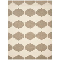 Safavieh Courtyard Collection CY6162-232 Beige and Brown Indoor/ Outdoor Area Rug (4' x 5'7') >>> You can get more details by clicking on the image. (This is an affiliate link) #AreaRugsRunnersandPads