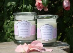 Jasmine, Rose & Orange Blossom - Uplifting & Stress Reducing  part of the new collection from www.lowerlodgecandles.com launching August 2013