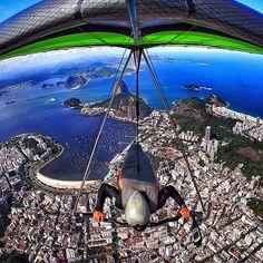 Location: Hang Gliding above Rio de Janeiro, Brasil.  Photo Credit: @nadercouri