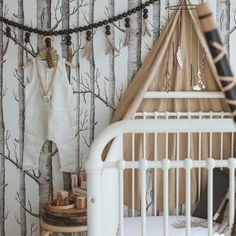 Nature themed nursery - so cute!! #BabyMakes3 #NurseryDecor #NurseryDesign #Baby