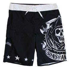 BikerOrNot Store - Sons of Anarchy Men's Boardshorts, $32.97 (http://store.bikerornot.com/sons-of-anarchy-mens-boardshorts/)