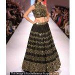 bhagalpuri-silk-zari-work-black-semi-stitched-bollywood-designer-lehenga