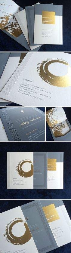 An abstract, modern and minimal wedding invite :)