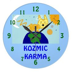 DOG n UNIVERSE KOZMIC KARMA Wall Clock