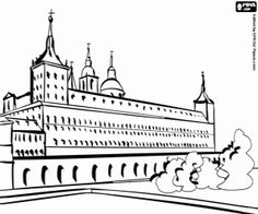 Tower of London Coloring Page (add cross hatch & textures