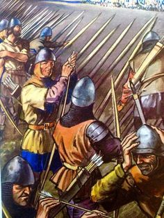 English archers at the Battle of Agincourt, Hundred Years War.