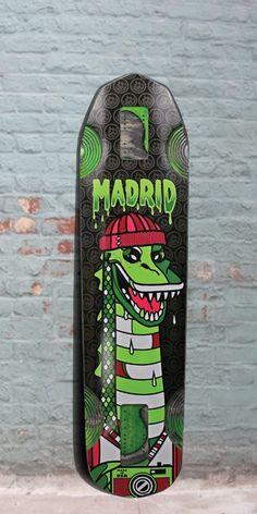 """Longboards USA - Madrid 2015 Nessie 38"""" Freeride Longboard - Complete, $214.00 (http://longboardsusa.com/longboards/freeride-longboards-riding-style/madrid-2015-nessie-38-freeride-longboard-complete/)"""