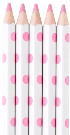 Pink polka dot pencils