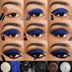Mocny makijaż oka