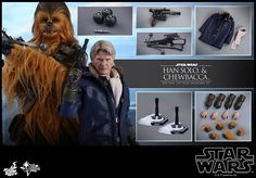 【共同進退數十載,星際宇航最佳拍檔!全新極像真老年頭雕  升級版真毛技術服裝  叛軍主將絕地反擊】  Hot Toys自從推出一系列《星球大戰: 原力覺醒》的1:6比例珍藏人偶後,角色陣容近乎被代表著黑暗勢力的First Order完全佔據。而繼Rey、BB-8 及 Finn 幾個來自正義一方的人物後, 兩位影響力與地位無可替代的 The Resistance 反抗軍靈魂人物 Han Solo 及 Chewbacca終於亦宣布歸隊,強勢登陸《星球大戰: 原力覺醒》的1:6比例珍藏人偶系列,並以光明力量及持續復甦的原力,大舉抗衡First Order於銀河系不斷擴散蔓延的極惡勢力!  Han Solo珍藏人偶備有精準重現了演員夏理遜福(Harrison Ford)的極像真頭雕外,亦有細緻剪裁的服裝及雪地裝備、全新手槍及地台!讓大家透過人偶隨意還原Han Solo於《星球大戰: 原力覺醒》中的任何經典場面,貼身回味電影引人入勝的情節。…