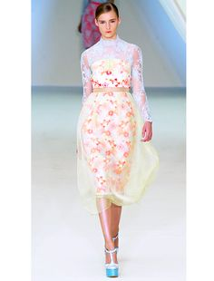 lace + pattern. Best Of: London Fashion Week S/S 13 - Celebrity Style and Fashion from WhoWhatWear