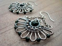 Hey, I found this really awesome Etsy listing at https://www.etsy.com/listing/219131829/art-deco-earrings-wire-wrap-earrings-art