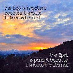 Ego vs. Spirit