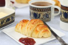 Homemade croissants      4 cups (480 grams) bread flour  3/4 cup (180 ml) lukewarm milk  1 envelope Red Star PLATINUM yeast  1 egg  2 tbsp sugar  1 1/2 tsp salt  1/2 cup (120 ml) milk  1 cup (226 grams) cold butter  1 egg for brushing