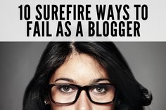 don't be a #bloggerfail - our tips will help you bounce back from minor mishaps