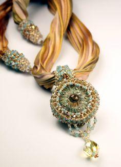 shibori ribbon jewelry patterns - Google Search