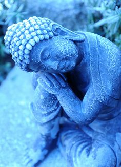 Icy statue of young Lord Buddha, considering, A Garden for the Buddha, Seattle, Washington, USA on Flickr.