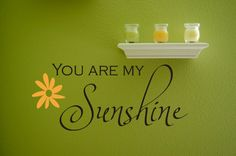 Vinyl Lettering Wall Decal You Are My Sunshine by MulberryCreek.