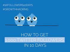 #Twitter Day 2 - Get 1,000 Twitter Followers in 10 Days [#1kfollowers10days #GrowthHacking] Get Twitter Followers, Growth Hacking, Got 1, 10 Days, Social Media Marketing, How To Get, Technology, Posts, Blog