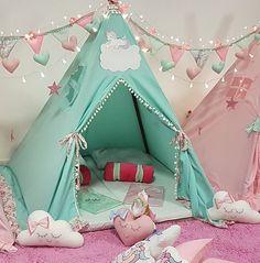 Kids Play Teepee, Diy Teepee, Teepee Party, Diy Tent, Kids Tents, Teepee Tent, Teepees, Room Design Bedroom, Kids Bedroom