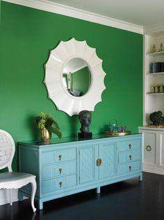 Dunn-Edwards paint colors - Walls: Leafy DE5628 Trim: White Picket Fence DET648
