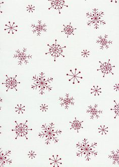 Red an White Christmas Fabric / Snowflakes by by ChristmasJul, $10.00