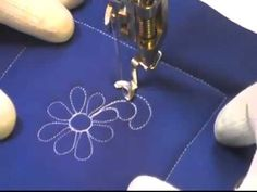 Free Motion Quilting Video: Spinning Daisy.
