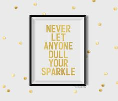 SIZE: 8x10  Never let anyone dull your sparkle masked with real gold foil.  Due to the nature of handmade gold foiling process, such foil prints may contain a slight rustic appearance form with black specks, yet barely noticeable. Its still metallically reflective and will still shine beary bright!  Note that this listing is for print only, no frames or mats are included. Photo frames displayed in the preview is solely for viewing example only. You will receive a copy of this art foiled on…