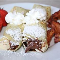Chocolate Hazelnut Fruit Crepes