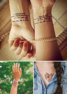 Custom temporary tattoos are a fun addition to any bachelorette party.