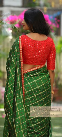 A Road MLA Colony Banjara Hills Hyderabad - Contact : 9160560480 to Blouse Designs High Neck, Silk Saree Blouse Designs, Saree Blouse Patterns, Designer Blouse Patterns, Indian Gowns Dresses, Trendy Sarees, Bridal Dress Design, Saree Wedding, Blouse Styles