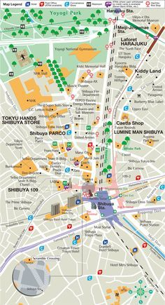 Tokyo Japan Tourist Map Tokyo Japan Mappery Maps Pinterest - Tokyo map for tourists