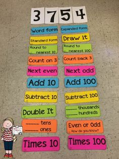 Great idea for place value/calendar math practice for upper grades. Could also be used as a center or for early finishers. Math Strategies, Math Resources, Math Activities, Math Games, Multiplication Strategies, Math Enrichment, Fourth Grade Math, Second Grade Math, Math Stations