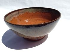 Medium bowl, goldstone clay with burnt orange and molassas glaze