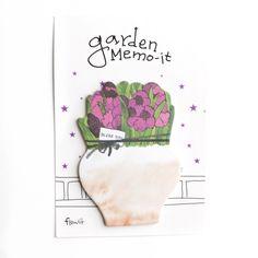 Purple Garden Sticky Notes