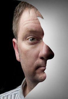 Optical Illusion Double Portrait