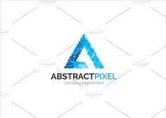Abstract Pixel Letter A Logo by XpertgraphicD on @creativemarket