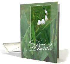 thank you snowdrops german card sold to customer in Indiana, United States Condolences, I Am Happy, Thank You Cards, Spanish, German, Greeting Cards, Vase, United States, Indiana