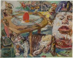 Painting: Oskar Kokoschka, The Red Egg