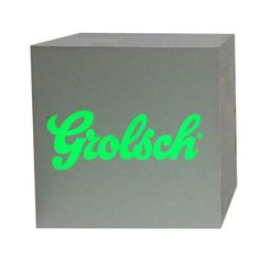 A battery Powered light cube bespoke made for Grolsch to use in bars, Made by Exhibition Plinths