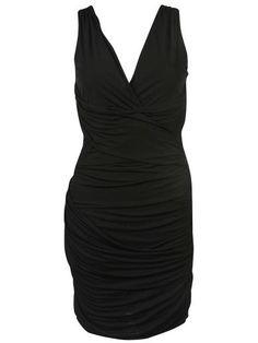 ROBERTO CAVALLI Roberto Cavalli Short Draped Dress. #robertocavalli #cloth #dresses