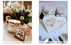 Teacup candles, cookies and homemade jam. #Englishcountrywedding favours feature at  #Vintagewedding. Photography by Crossfire Photography www.crossfirephot... #LancashireWedding Photographers. Please do not crop or remove watermark. © Copyright Crossfire Photography 2013