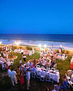 I like the bubble lights around the event. Grass, Sand, Ocean ... can't go wrong!