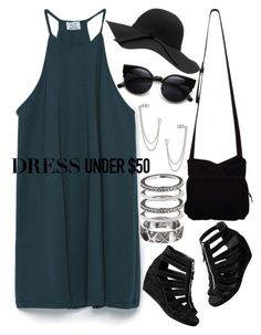 """""""869."""" by adc421 ❤ liked on Polyvore featuring Zara, H&M, HOBO, House of Harlow 1960, French Connection and Dressunder50"""